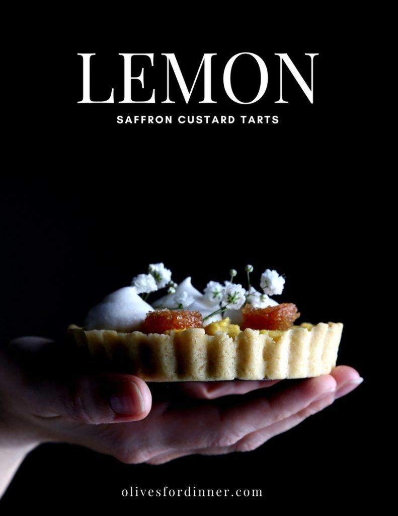 Lemon Saffron Custard Tart