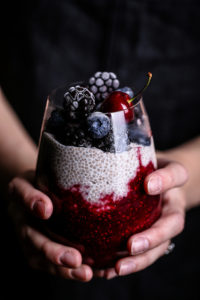 Mixed Berry Compote + Chia Pudding