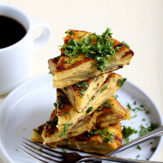 Vegan Tortilla Espanola - from the Follow Your Heart VeganEgg Cookbook
