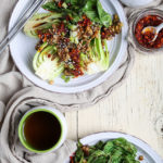 Grilled Bok Choy with Oyster Mushrooms