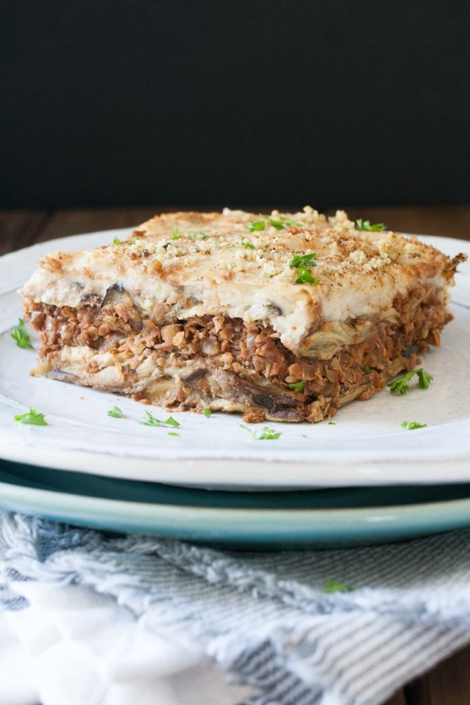 Greek Vegan Moussaka by Sophia DeSantis