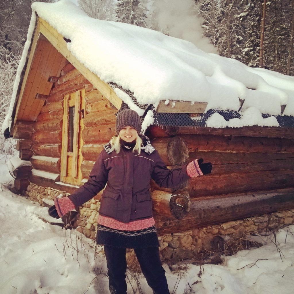 Our log cabin by Sandra Vungi