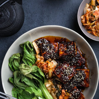 Sambal + Ginger Tofu with Air-Fried Bok Choy _ cover