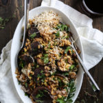 Toasted Farro with Roasted Shiitake, Shallots and Pine Nuts - cover