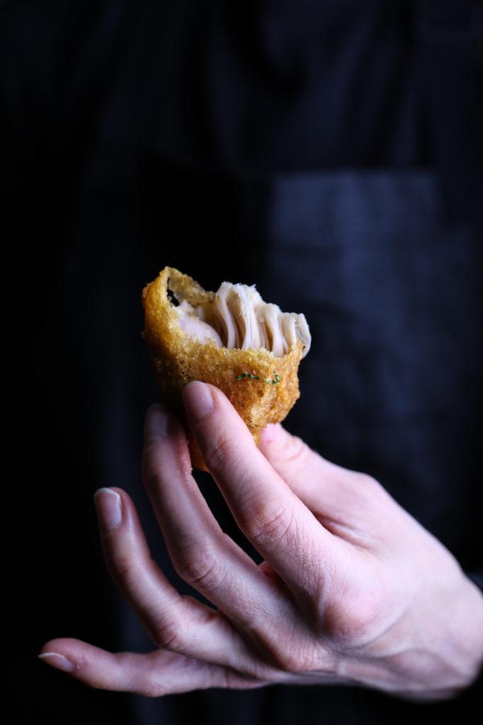 Deep-fried jackfruit - inside shot