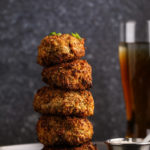 Sriracha Pea Crusted Mushrooms with Celery-Garlic Mayo