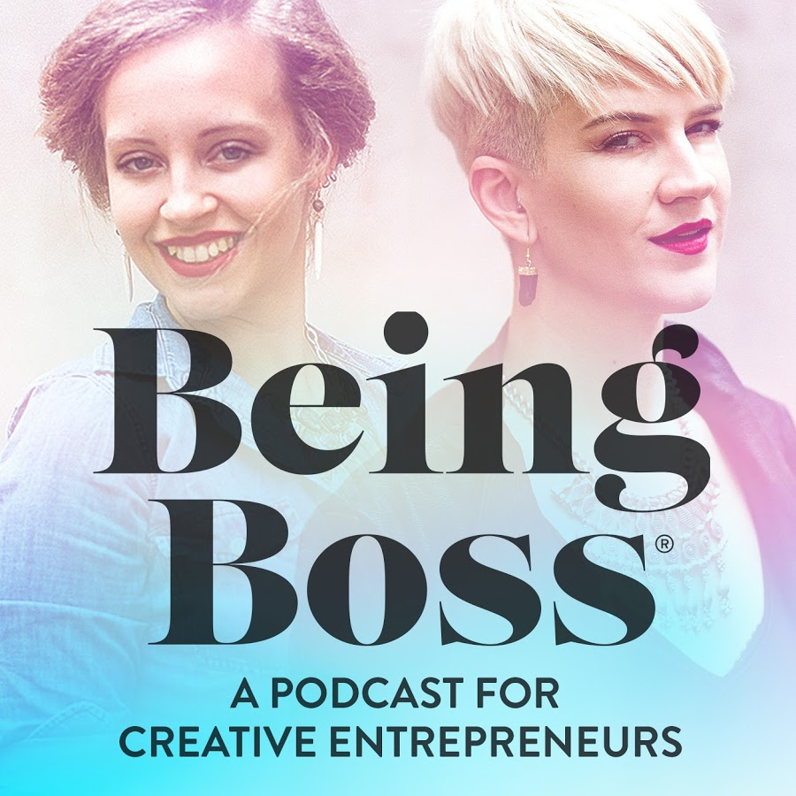 A cover image of the Being Boss Podcast