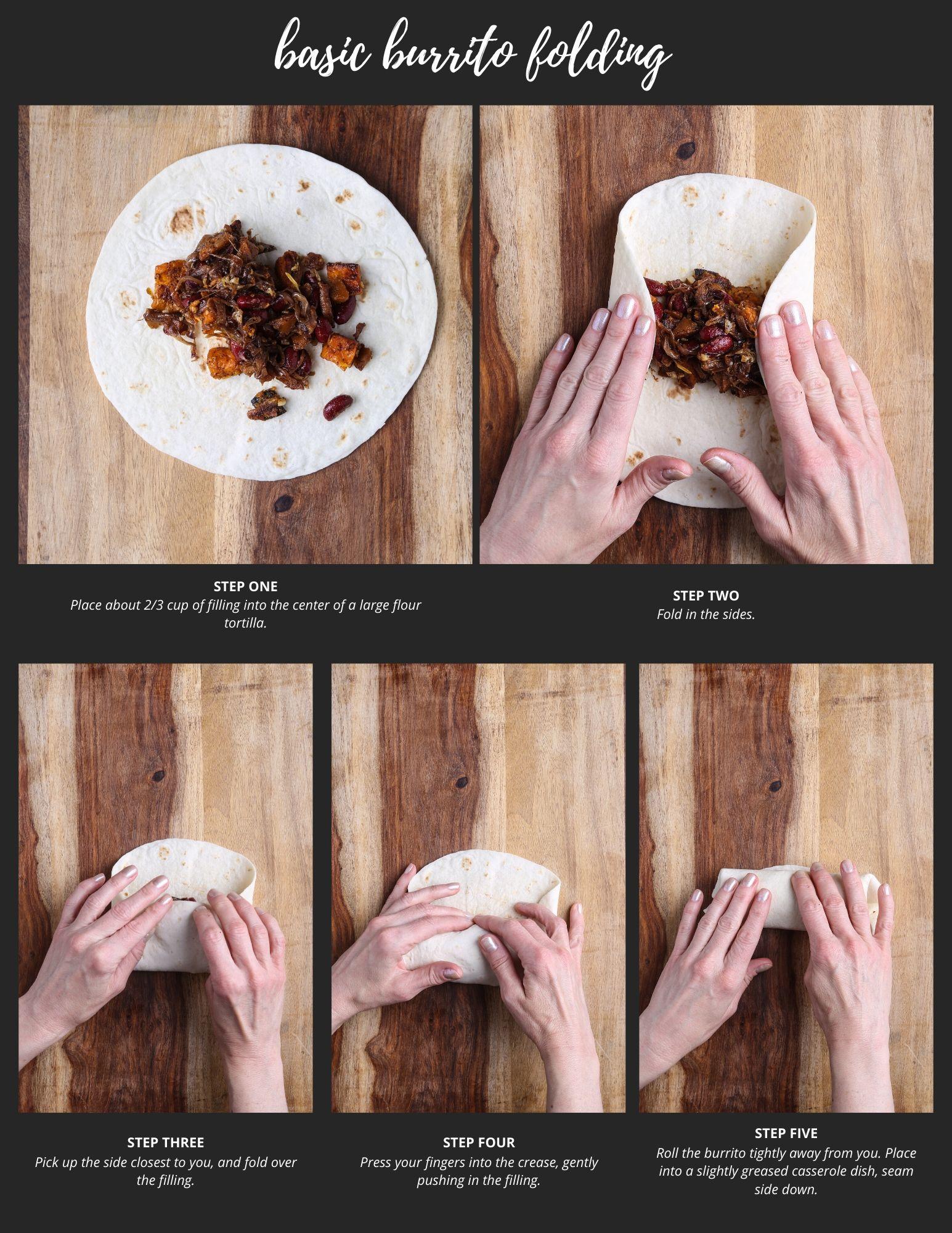 A tutorial on basic burrito folding