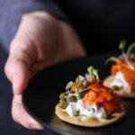 Carrot Lox Crackers Appetizer