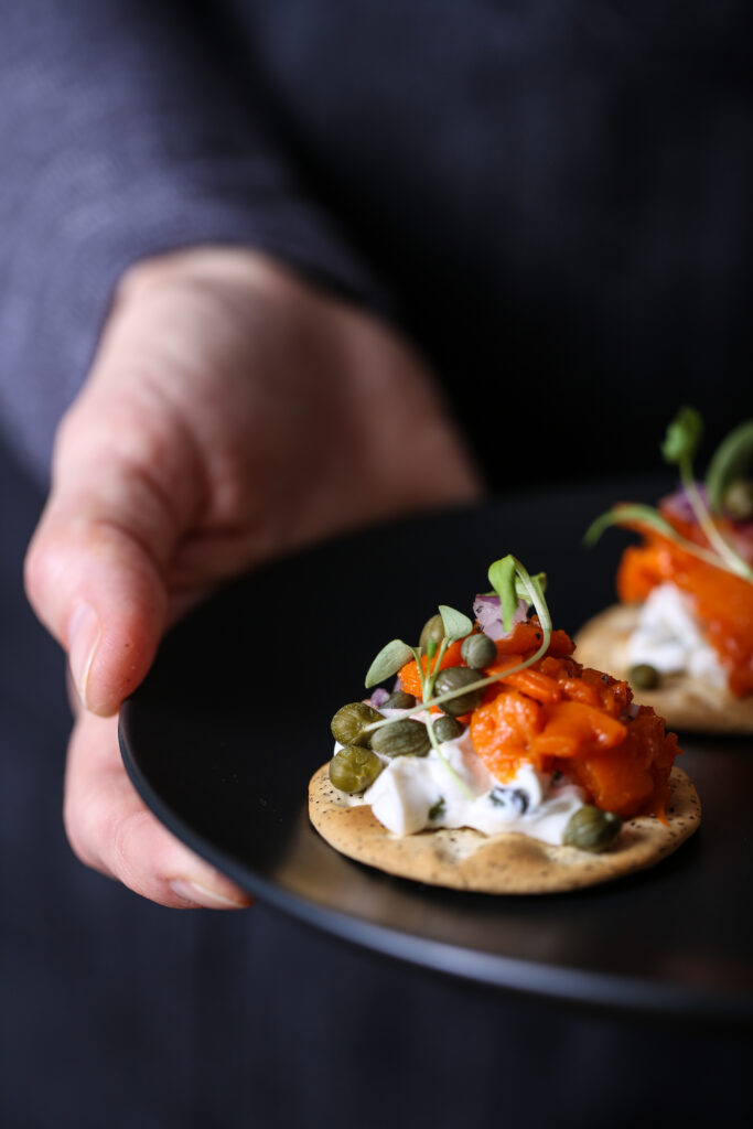 Carrot lox appetizer