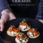 Carrot Lox on Crackers Appetizer