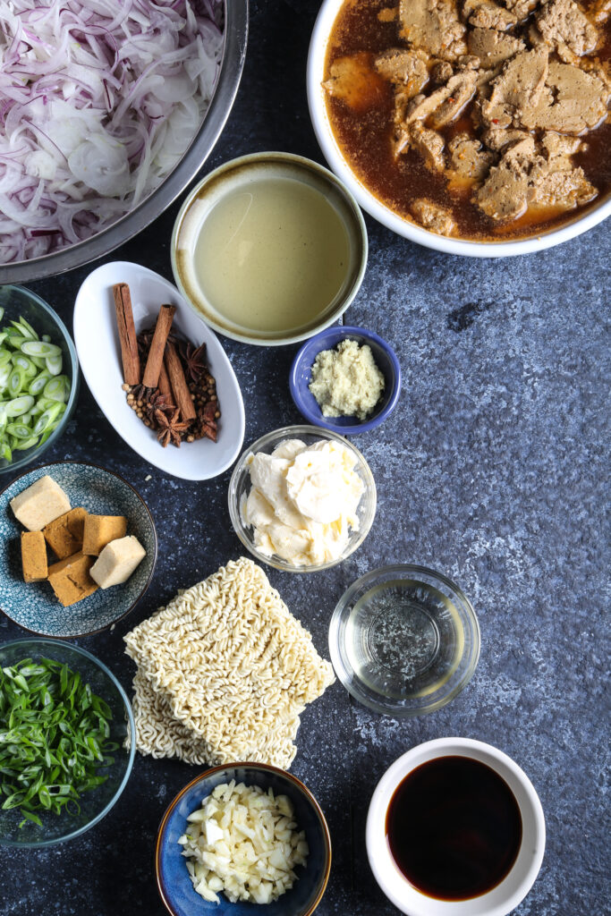 ingredients for vegan ramen